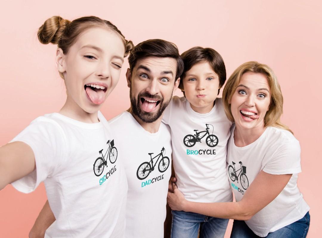בגדים תואמים למשפחה -חולצות משפחתיות אופניים