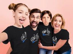 בגדים תואמים למשפחה – חולצות משפחתיות אופניים