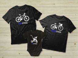 בגדים תואמים למשפחה – אופניים לקטנטנים