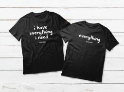 בגדים תואמים לזוגות – משפטים על חולצות Everything