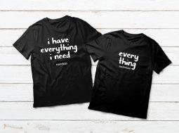 בגדים תואמים לזוגות – משפטים על חולצות פיג'מה