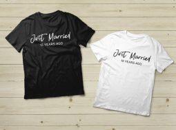 מתנה ליום נישואים- בגדים תואמים לזוגות