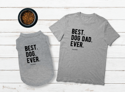 בגדים לכלבים – מתנה לכלב ולאבא Best Dog Dad