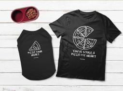 בגדים לכלבים – מתנה לכלב ולבעליו Pizza My Heart